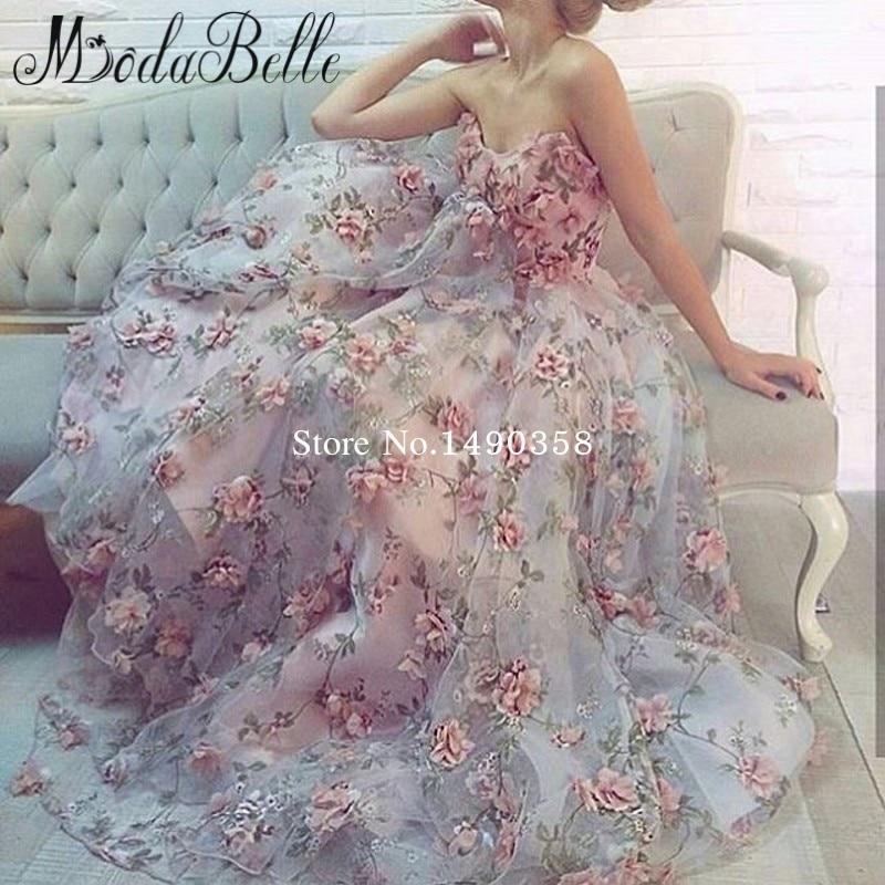 Pink 3d Floral Dress