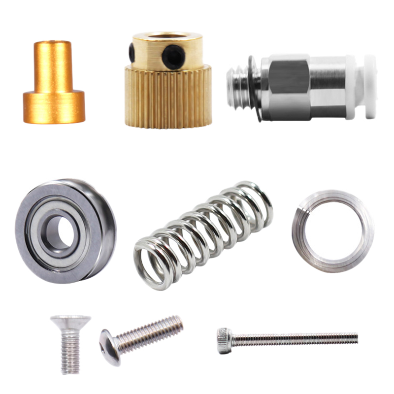 Image 4 - 15Pcs/Set 3D Printer Extruder Cr10 Extruder Remote Extruded Metal Block Oxidized Sandblasting Fittings-in 3D Printer Parts & Accessories from Computer & Office