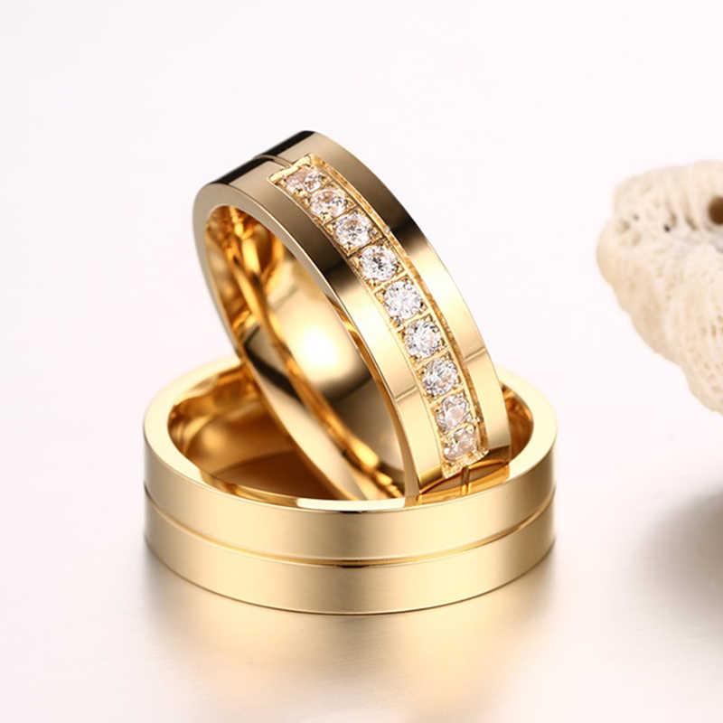 Vnox 1 пара свадебные Кольца для Для женщин Для мужчин Пара Обещание группа Нержавеющая сталь Юбилей Обручение Jewelry Альянс Bijoux