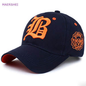 MAERSHEI Cotton Letter Baseball Cap Men's Sports Visor Hat