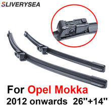 SLIVERYSEA Wiper Blades For Opel Mokka 2012 onwards 26''+14'' High Quality Iso9001 Natural Rubber Clean Front Windshield CPC109