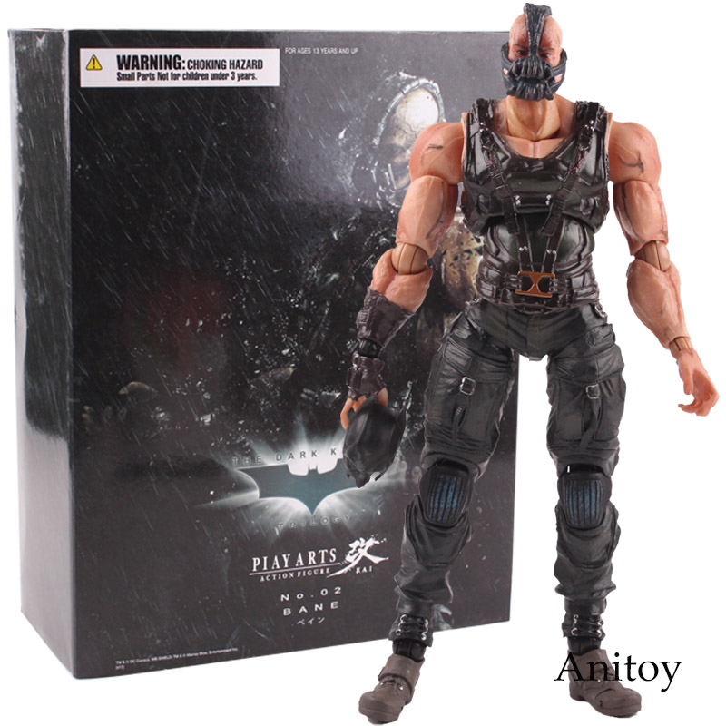 Play Arts Kai Figures NO.02 Batman Bane The Dark Knight Rises PVC Action Figure Model Toy Collection Playarts Kai стоимость