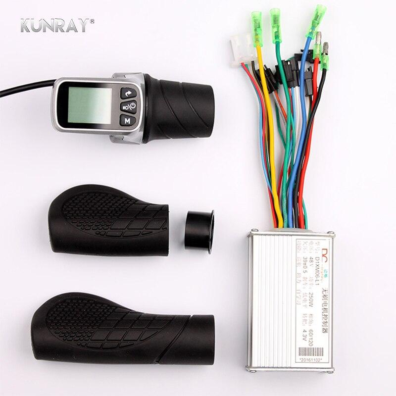 250 w 350 w 24 v 36 v 48 v Électrique Scooter Vélo LCD Affichage Twist Throttle 6 Mosfet Brushless contrôleur Pour Ebike VTT Partie Kit