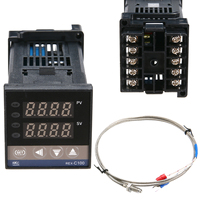 1pc Dual Digital F C PID Temperature Controller LED Display Self Tuning Control 48 48 110mm