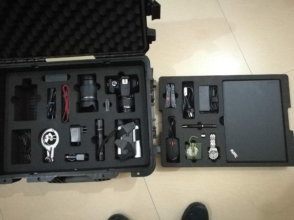Cassa di Attrezzo di plastica cassetta degli attrezzi Ferramenteria e attrezzi kit La valigia Lo strumento attrezzature strumento di Grande scatola nera Super buona preferenziale - 6
