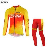 İspanya takım erkekler termal polar bisiklet formalar nefes kış bisiklet clothing bisiklet giyim ropa ciclismo maillot ciclismo