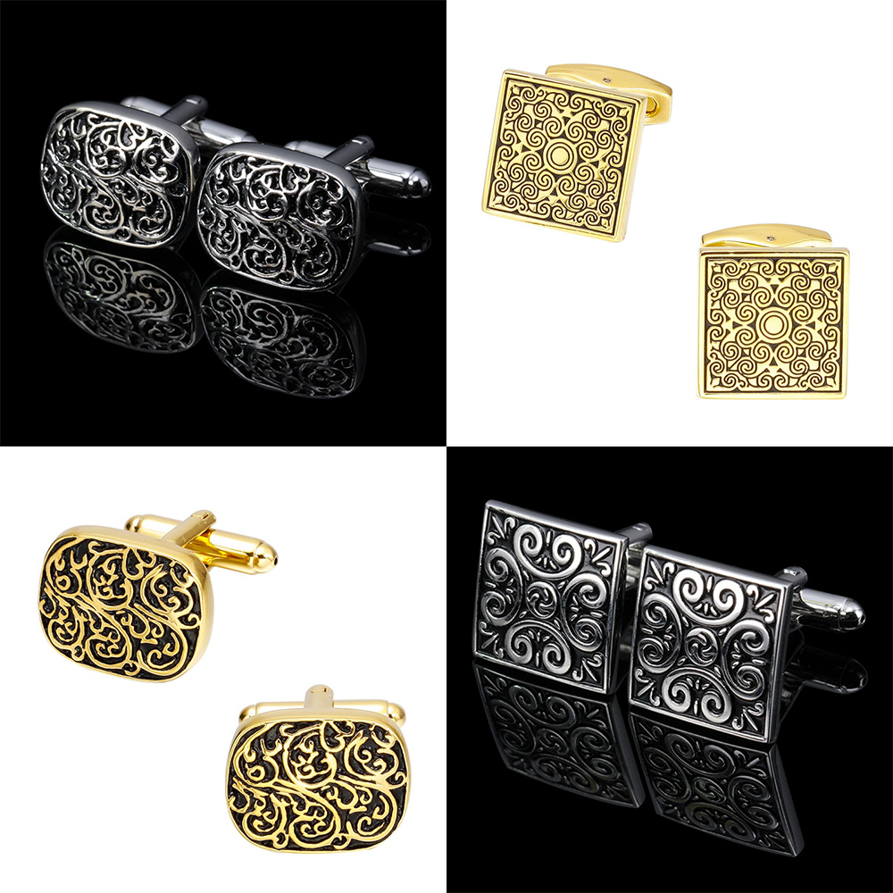 Cuff-Link Pattern Wedding High-Quality Jewelry Vintage Men's New Retro for Hot-Style