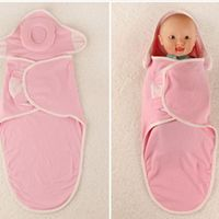 2017 New 0 6 Month Baby Blanket 100 Cotton Baby Swaddle Wrap Infant Envelope With Pillow