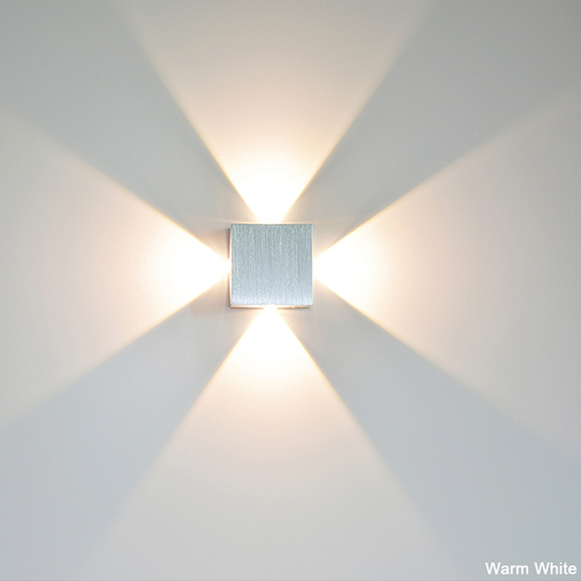 Yooe led wall lamp 4w indoor lighting ac100v220v aluminum yooe led wall lamp 4w indoor lighting ac100v220v aluminum decorate wall sconce bedroom led mozeypictures Image collections