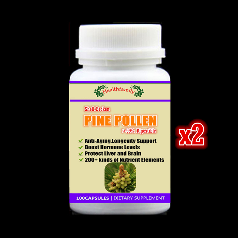 200Pills Shell-Broken Pine Pollen Capsules >99% digestible Anti-aging Longevity Support Hormone Booster Protect Liver and Brain fallopia multiflora tea longevity anti aging 100g very popular polygonum multiflorum tea sichuan specialty he shou wu dry root