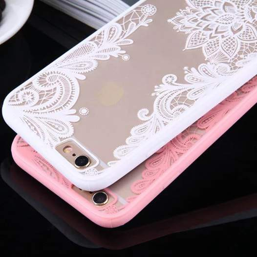 Luxury Sexy Lace Floral Henna Mandala Palace Flowers Phone Case For iphone 5s Cover For iphone 5s 5 SE 6 6s 6Plus 6sPlus