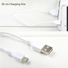 3 pieces/lot Micro USB Cable Fast Charging Mobile Phone USB Charger Cable 20CM Cables for Bluetooth headset MP3 Player Speaker