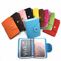 24 Bits Top Quality PU Leather Female RFID Credit Card ID Holders Colorful Simple Clasp Design Unisex Card Slot Case For Woman