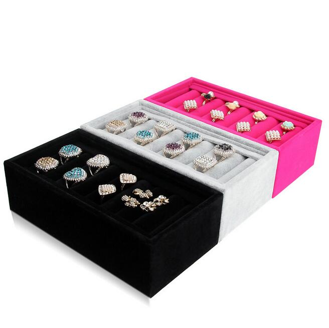 Hot sale Rings Tray 3 Colors Options Nice Cute Jewelry Tray Bracelets Holder Bracelets Storage Tray Made of High Quality Velvet in Jewelry Packaging Display from Jewelry Accessories