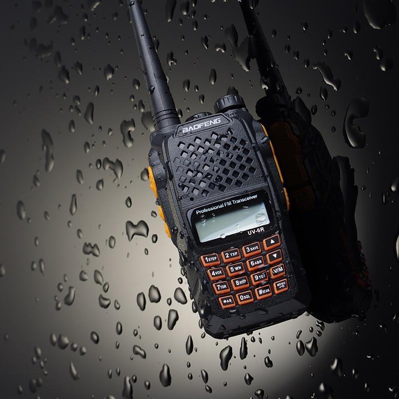 Nouveau Baofeng UV-6R talkie-walkie portable 5 W Radio UHF VHF UV double bande étanche UV-9R deux voies Radio Interphone HF émetteur-récepteur