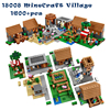 1600 Pcs Model Building Kits Compatible With Legoingly My Worlds MineCraft Village Blocks Educational Toys Hobbies