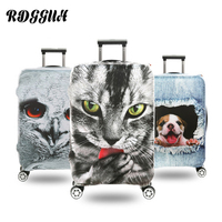 RDGGUH Animal Print Luggage Protective Cover Polyester Elastic Suitcase Travel Case Trolley Dust Rain Bags Accessories