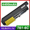 4400 mah batería del ordenador portátil para ibm thinkpad r60 r60e r61 r61e T60 T60p T61 T61p R61i 42T4504 42T4513 42T5233 92P1137 92P1139 92P1141