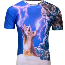 2018 Water Drop Mobile 3D Print Short Sleeves Men t shirt Harajuku Summer Groot Men tshirt Tops Plus Size shirt SBKENI(China)