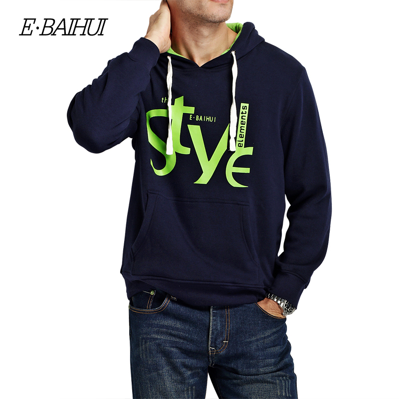 E-BAIHUI  mens Hoodies Moleton Masculino Cotton   jacket  Sweatshirts Men coats Tracksuit Swag brand winter coat  WY001