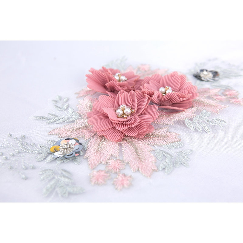 3 Pcs lace embroidery flower cloth patch clothes patch applique skirt pants clothing diy decoration repair hole accessories in Garment Applique from Apparel Accessories
