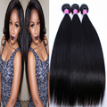 9A Brazilian virgin hair 3 bundles Unprocessed Straight Hair Extension Brazilian Virgin Hair Remy Queen SOFT FULL FAST SHIP