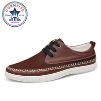 Handmade 100 Genuine Leather Men Casual Shoes Outdoor Walking Shoes Breathable Comfortable Big Size 38 47