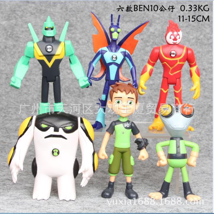 NEW hot 6pcs/set 11cm-15cm ben 10 Ben Tennyson ben10 action figure toys Christmas gift doll tennyson poems