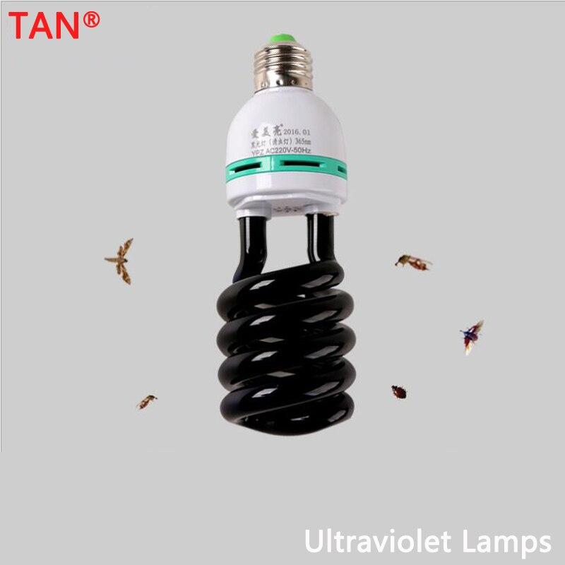 AC 220V E27 5-40W UV Light Bulb UV Ultraviolet Fluorescent CFL Light Bulb Spiral Enegy Saving Black Light Violet Lamps Lighting