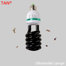 AC 220V E27 5-40W UV Light Bulb Ultraviolet Fluorescent CFL Spiral Enegy Saving Black Violet Lamps Lighting