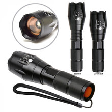 New Brand E17 XM-L T6 3800LM Aluminum Waterproof Zoomable CREE LED Flashlight Torch light for 18650 Rechargeable or AAA Battery