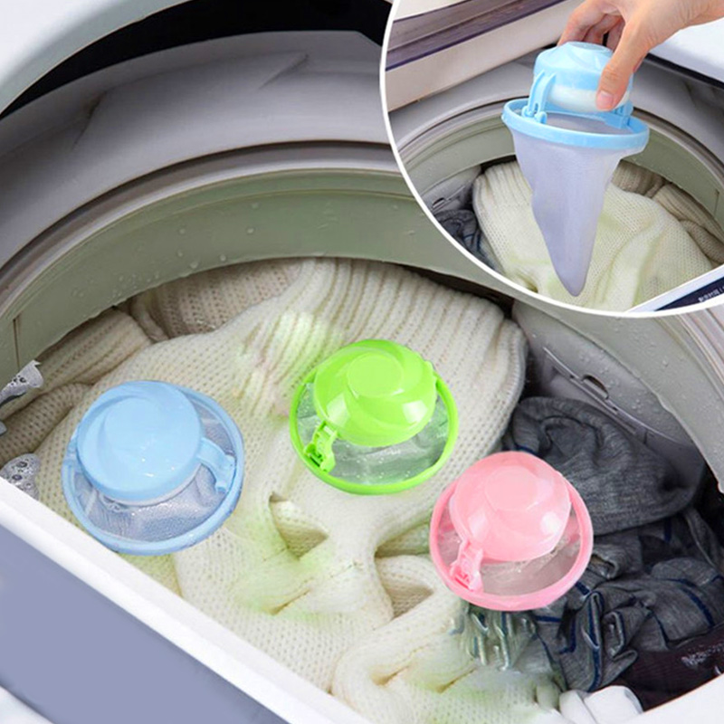 Laundry Bag Hair Catcher Creative Mesh Pouches Filter Pet Fur Catcher Plastic Cleaning Tool Polyester Practical