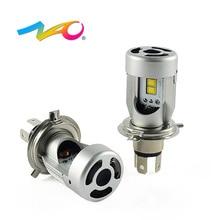 НАО h4 светодио дный лампы автомобилей светодио дный фар HS1 светодио дный 12 В 24 В H4 авто лампы флип чип лампы Высокая Низкая луч света 50 Вт 5600LM CSP белого и желтого цвета C4