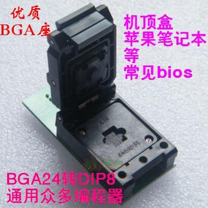 Siège brûlant de programmeur de décodeur de Test de Conversion BGA24 à DIP8