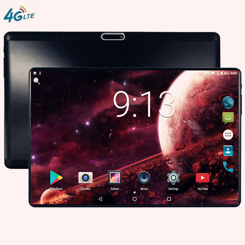 IPS Tablettle S119 Pocket PC 2.5D Glasses Tempered Phone Tablets 10.1 Inch Android 9.0 1280 800 64GB ROM Tablet PC 6GB Ram 5MP