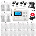 Home alarm system multiple voice wireless gsm alarm system security home with magnetic Door sensr Motion detector