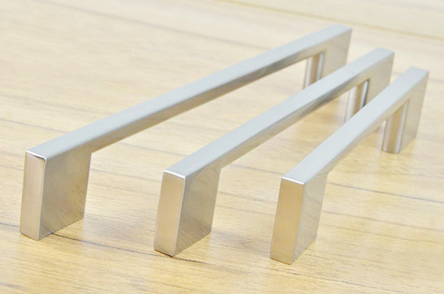 Stainless Steel Brush Finish Kitchen Cabinet Drawer Handles Bar T High Quality Handle C C 96mm L 130mm