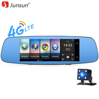 Junsun 4G Car Camera DVR 7 Mirror GPS Wifi Bluetooth Dual Lens Rearview Mirror Video Recorder