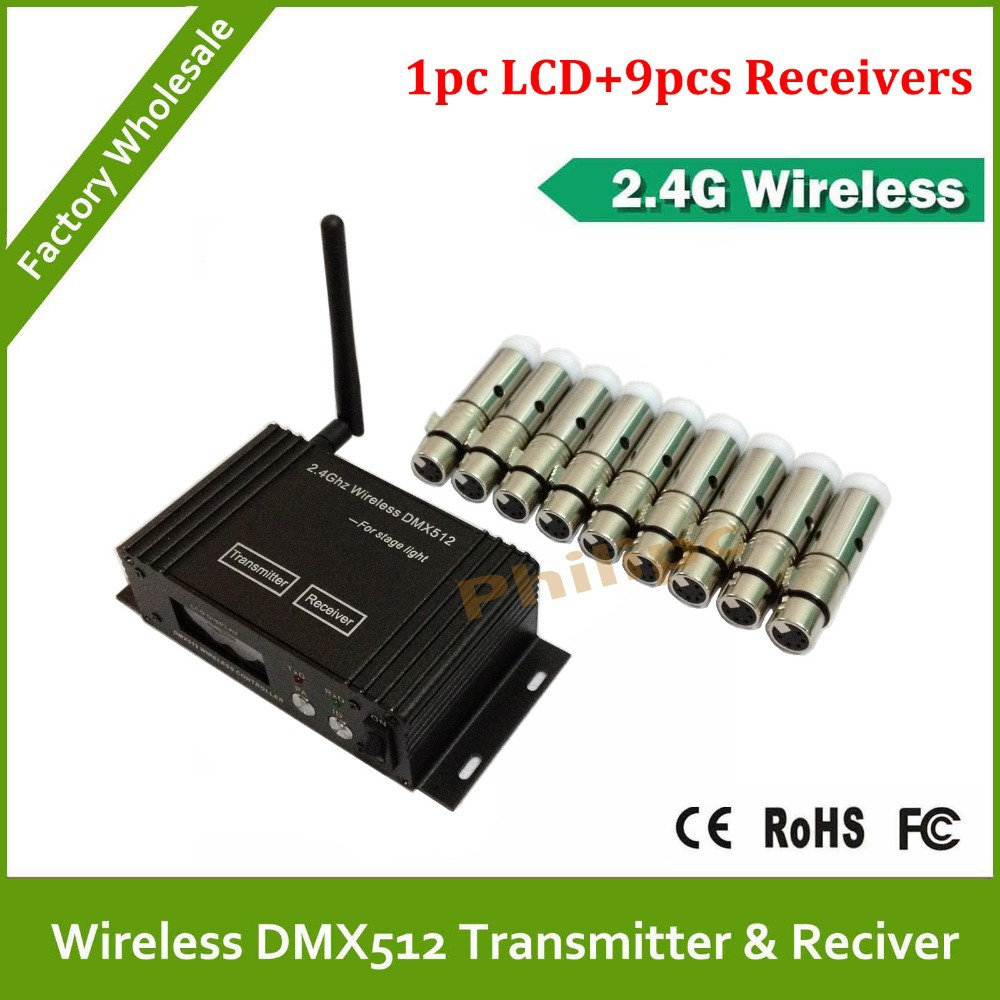 DHL Fast Free Shipping 2.4GHz Wireless DMX 512 wireless controller transmitter receiver LED Lighting Controller dhl fast free shipping wireless dmx receiver transmitter rgb led controller dmx wireless