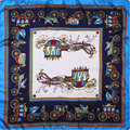 100% Silk Scarf Women Scarf Horse Carriage Hijab Silk Scarf 2017 Top Female Middle Square Silk Scarf Hot Bandana Gift for Lady