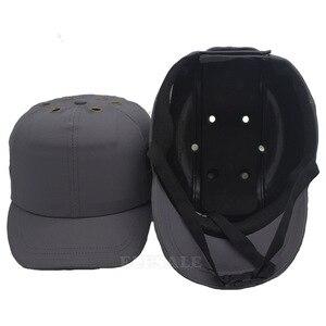 Image 2 - 新作安全ハードバンプキャップヘルメット野球帽子スタイル保護ハードpp帽子ため作業工場ショップ運ぶヘッド保護