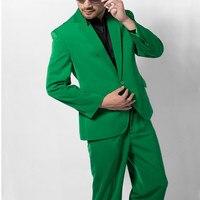 Custom Made Groomsmen Notch Lapel Groom Tuxedos Green Mens Suits Wedding Best Man 1 buttons Groom Suit Jacket+Pants)