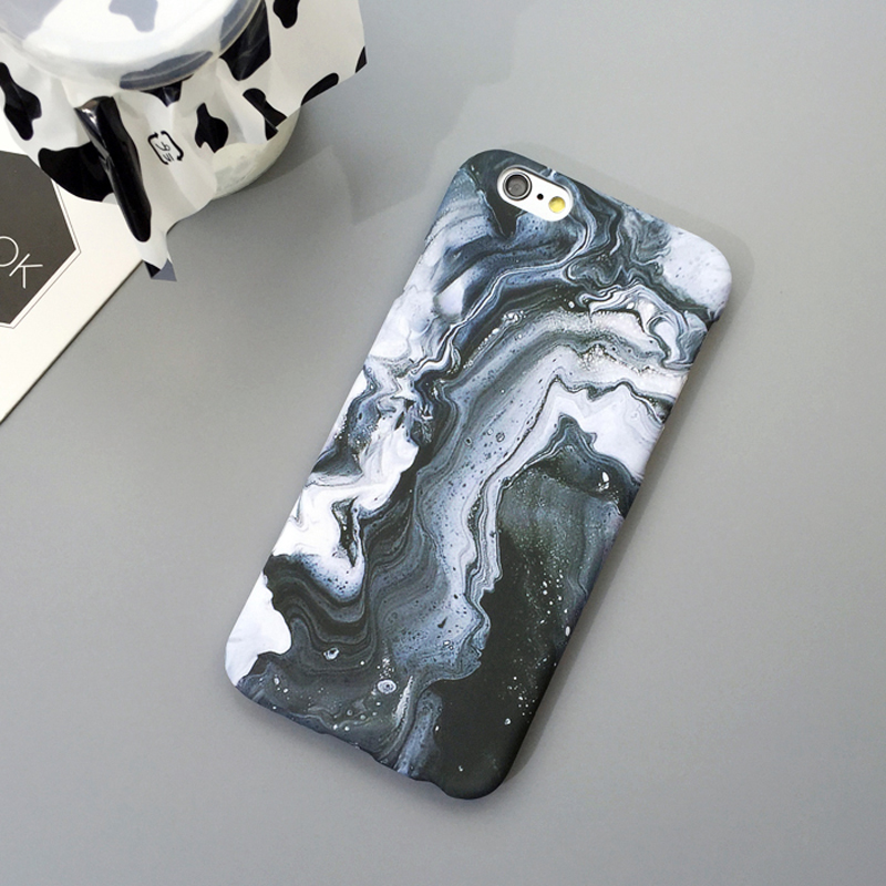 LACK Mode Lyxig marmorsten telefonfodral för iphone 6 fodral för - Reservdelar och tillbehör för mobiltelefoner - Foto 3