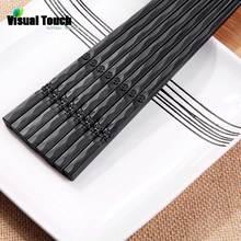 Визуальный контакт 1 пара японские палочки для еды нескользящий прочный сплав суши Chop набор палочек китайская палочка корейский стиль подарочная посуда