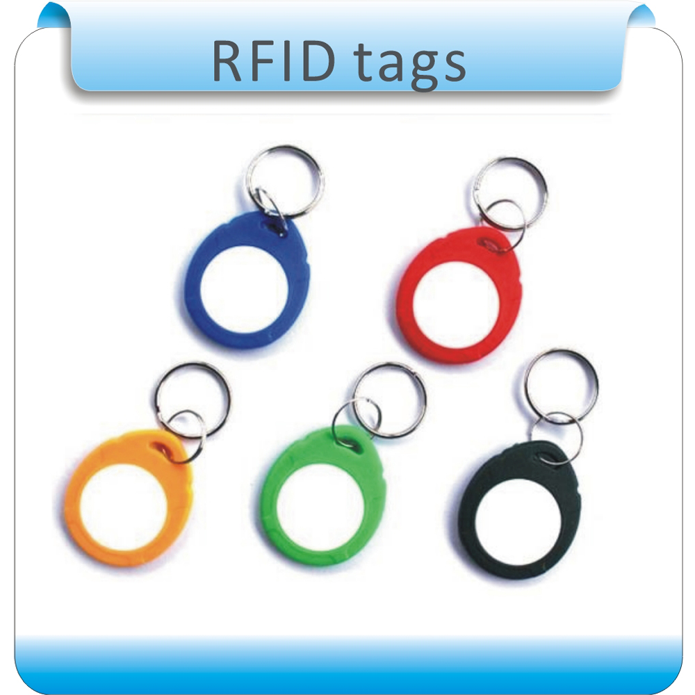 100/lot ABS 6# Contactless Smart RFID IC Card MF1 S-50 13.56Mhz Rewritable NFC Keyfob For Access Control System
