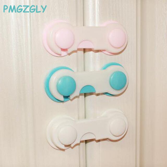 4pc Baby Safety Cabinet Lock Gates Doorways Door Drawers Wardrobe Todder Kids Baby Safety Plastic Straps Lock Child Care
