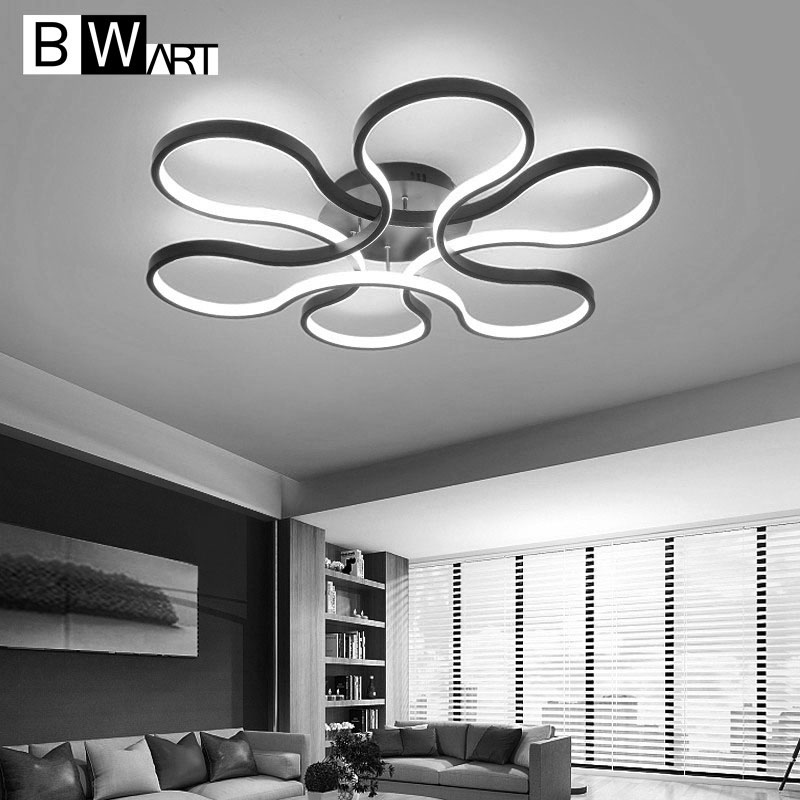 BWART modern led chandelier for living room bedroom aluminum body remote control home chandelier lighting lamp