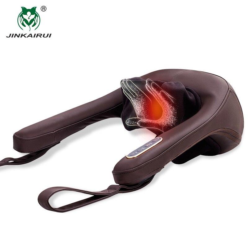 Anti-stress électrique cou épaule Massage oreillers Malaxation ménage Clip dispositif de Massage Cervical Massageador outil de santé