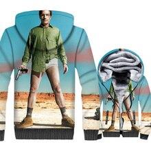 Breaking Bad Funny Jacket Heisenberg Hoodie Men Walter White Sweatshirt Winter Thick Fleece Zipper 3D Print TV Show Coat Mens