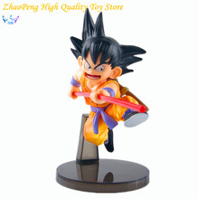 Free Shipping Dragon Ball Z Anime Toys 15cm Sun Goku Childhood Edition PVC Action Figures Doll PVC Model Toys FB277